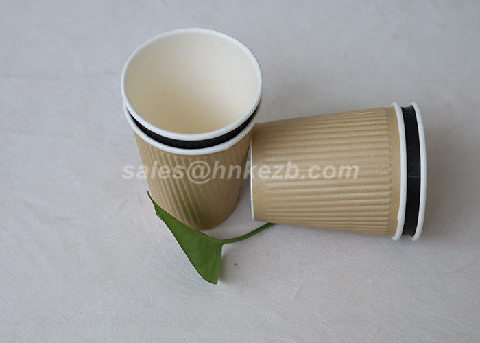 Plain White 12oz  Paper Espresso Cups With Lids / Personalised Paper Coffee Cups