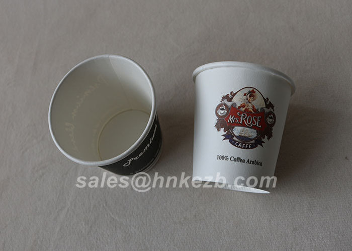 6oz Disposable Cold Drink Paper Cups With Custom Logo Printing