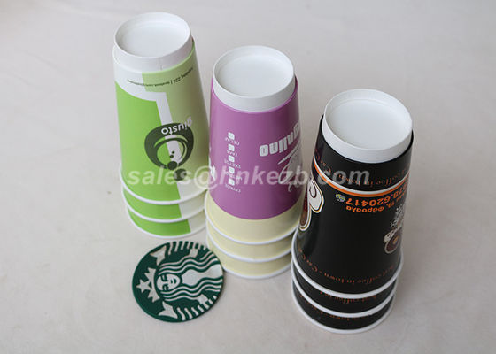 Pakai dinding ganda Hot Minum Paper Cups 8 Oz Personalized Panas Insulated